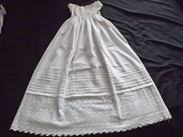 Baby Christening, Baptism Gown / Robe. Victorian, Circa 1860s