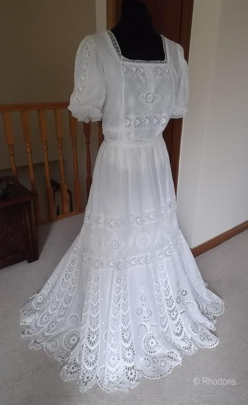 Edwardian Tea Gown Dress ab293eaef