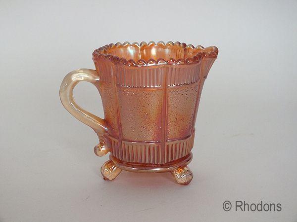 Marigold Carnival Glass Creamer Jug, Sowerby Lea Pattern
