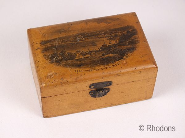 Mauchline Ware Box, Oban From The South West