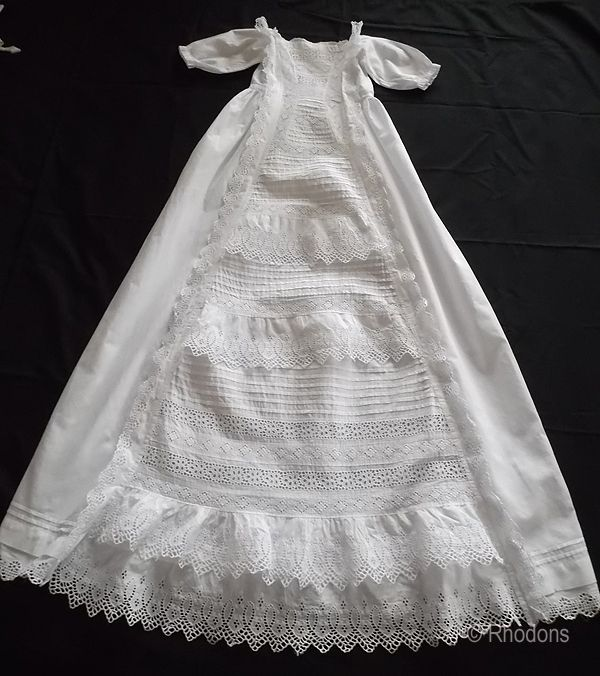 Victorian Lace Baby Christening, Baptism Gown