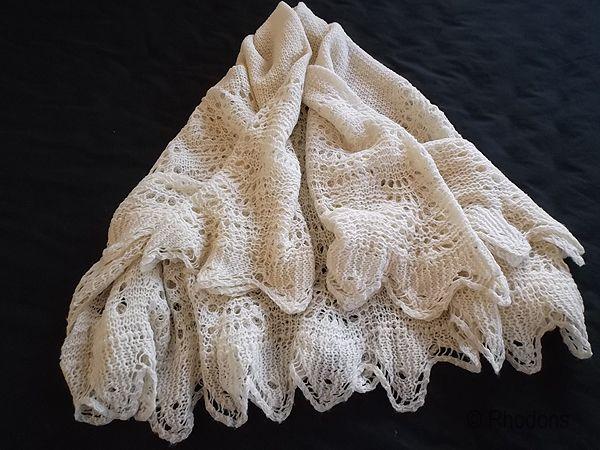 Shetland Lace Shawl, Hand Knitted