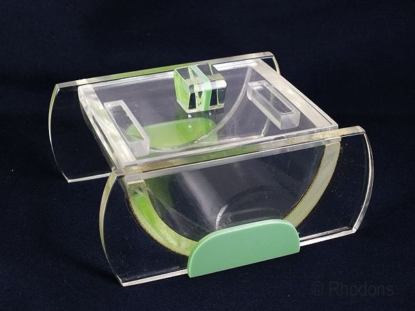 Art Deco Lucite Cigarette Box