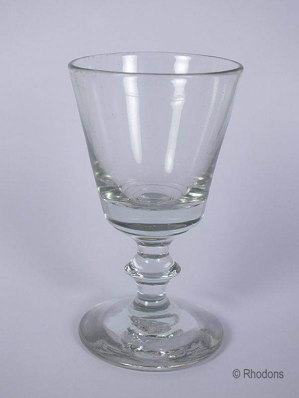 Victorian Blade Cut Stem Dram Glass