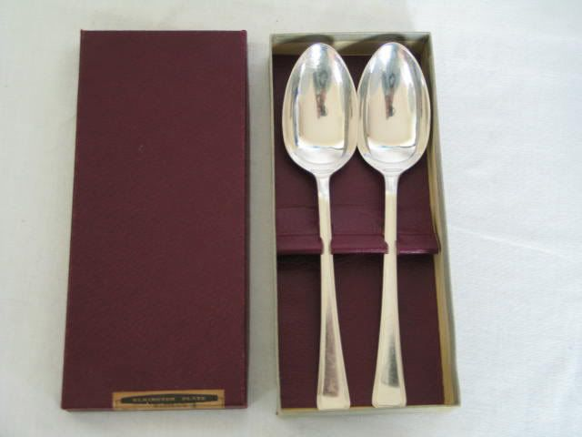 1960s Elkington Silver Plated Table Spoons
