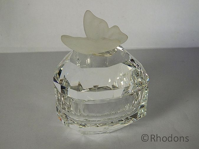 Swarovski Crystal Heart Butterfly Treasure Box