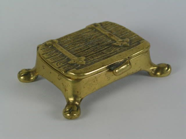 Peerage Brass Stamp Box, Trunk, Circa 1940s
