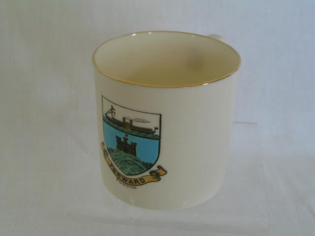 Antique W H Goss Crested Ware Mug Arms Of Dunoon With Paddle Steamer
