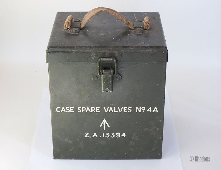 British Army Spare Valve Case No.4A,  ZA 13394, World War Two Era 1939-1945.