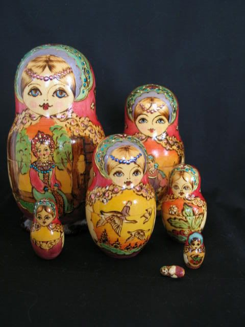 Russian Matryoshka Dolls, Set of 7