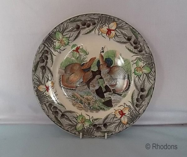 Adams China Plate, Birds Of America Series, Ruffed Grouse