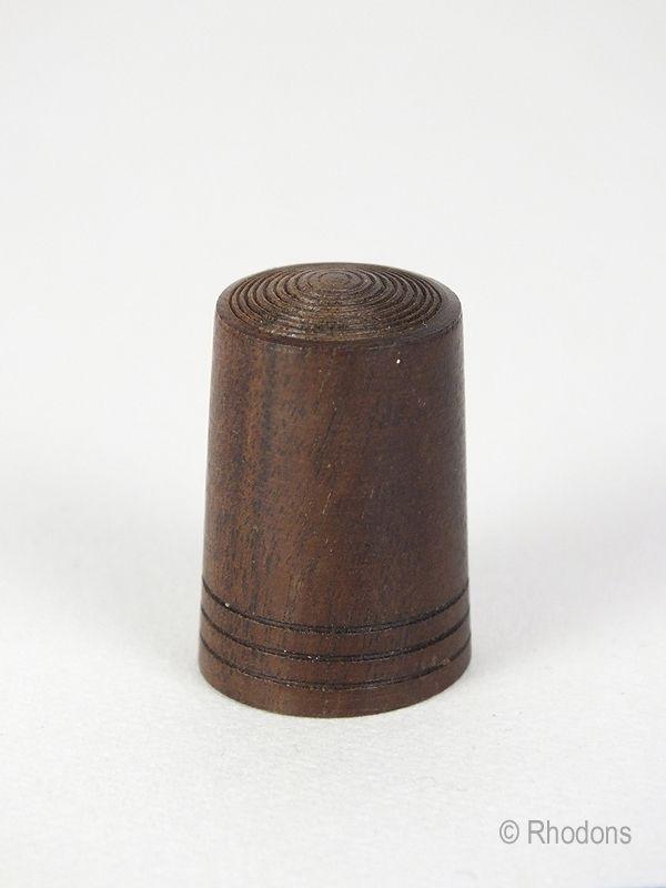 Mahogany Wood Thimble