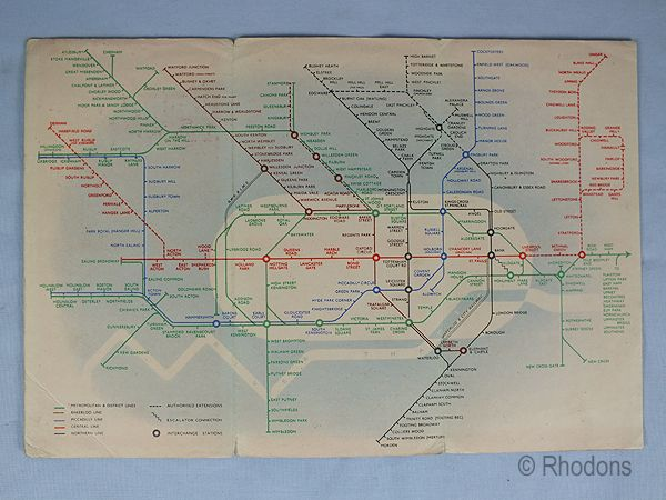 London Transport Underground Lines Map, 1939 Number 1 Issue