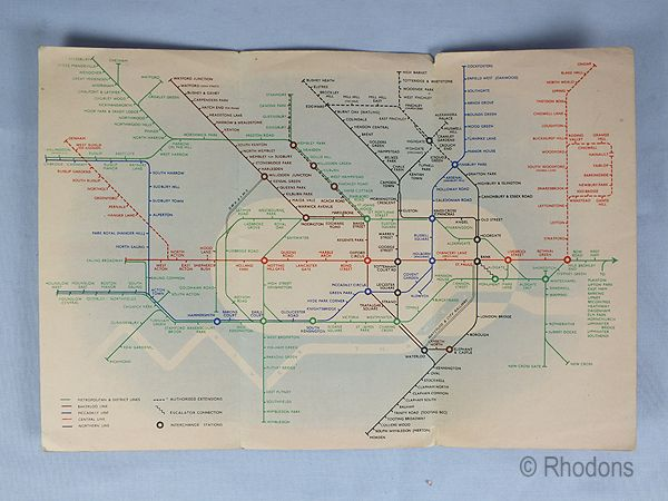 Early London Transport Underground Lines Map No 2, 1938