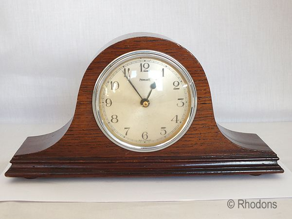 Ferranti Electric Mantel Clock, Oak Cased, Circa 1950s