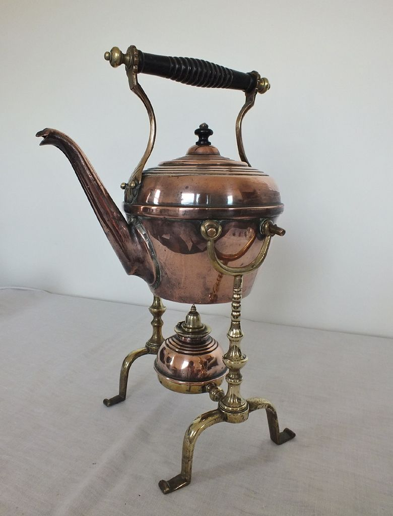 Victorian Copper & Brass Spirit Kettle