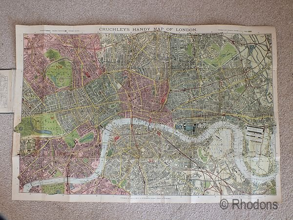 Gall & Inglis Handy Map & Guide To London With Index To Streets