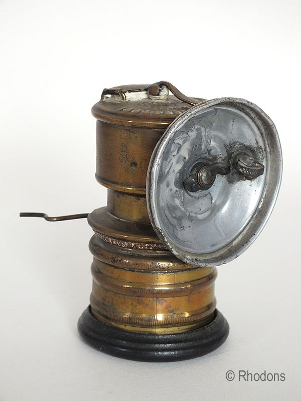Lovely Antique Premier Carbide Lamp, Early 1900s