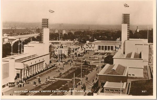 Scotland: 1938 Empire Exhibition Scotland, Scottish Avenue, Official Real Photo Postcard