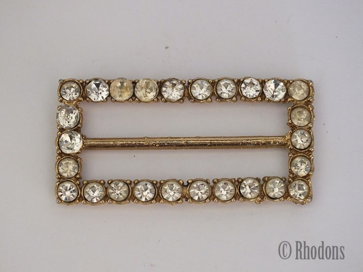 Vintage Ladies Gilt Metal Dress Buckle.