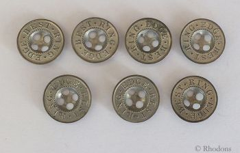 Buttons, Best Ring Edge Metal 4 Hole, 17mm Diameter