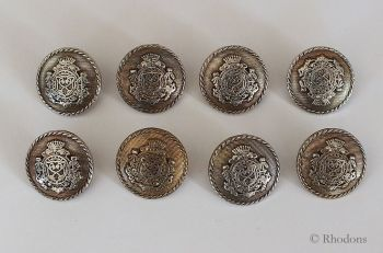 Buttons, Coat of Arms Metal Shanks (25mm) x8