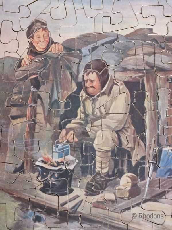 WWI Bairnsfather Bystander Jigsaw Puzzle, No 3 The Historical Touch, Frederick Warne Chandos Series