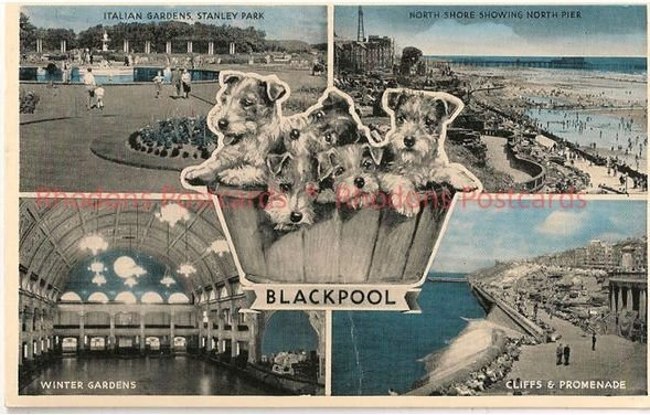 England: Lancashire. Greetings From Blackpool. 1960s Multiview