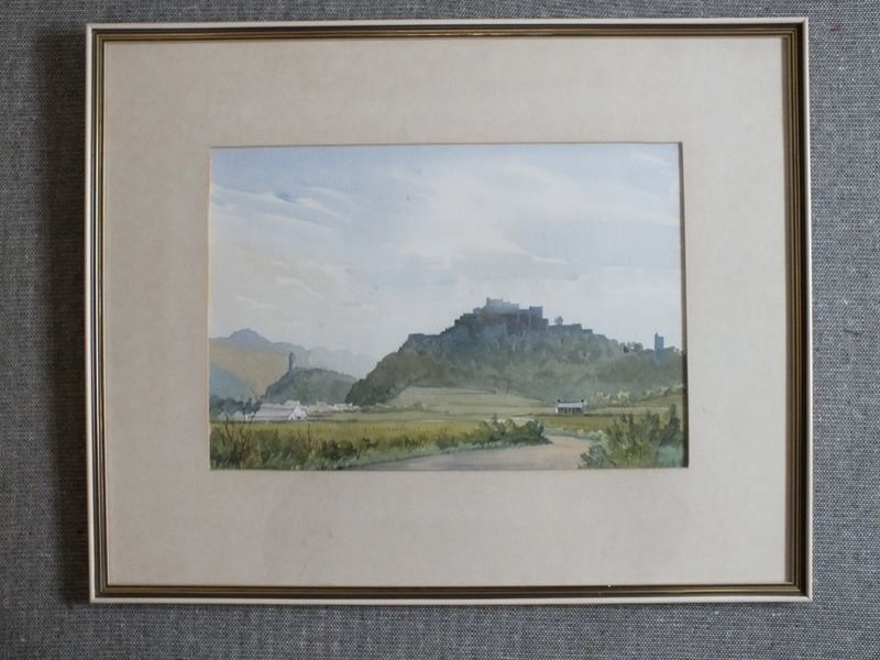 Stirling Castle Scotland, Original Watercolour Landscape Painting