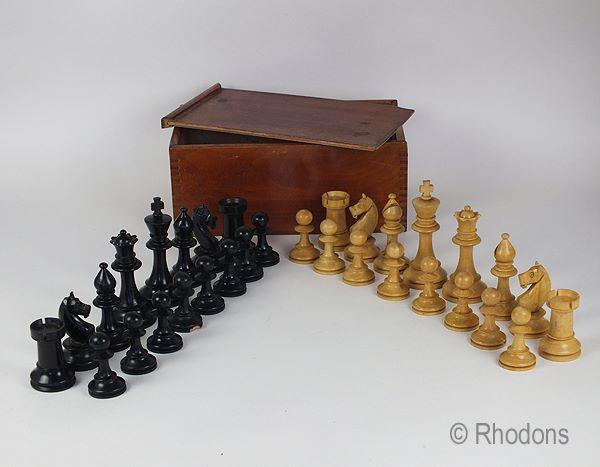 Antique Staunton Chess Set