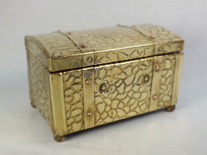 Antique Brass Tea Caddy, Circa 1930s