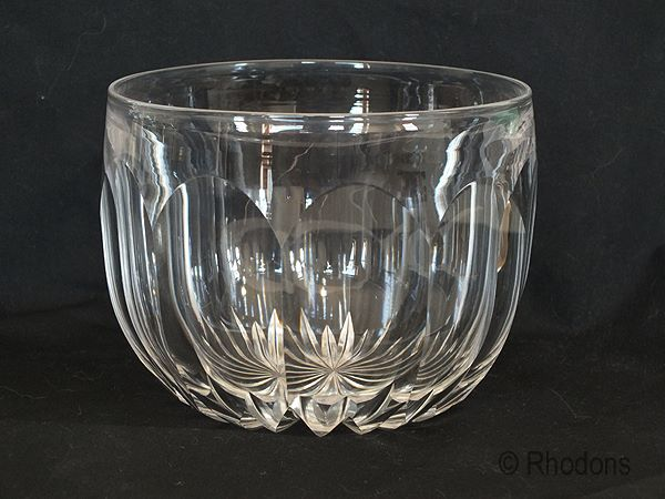 Crystal Cut Glass Wine Glass Cooler, Rinser, 19th Century