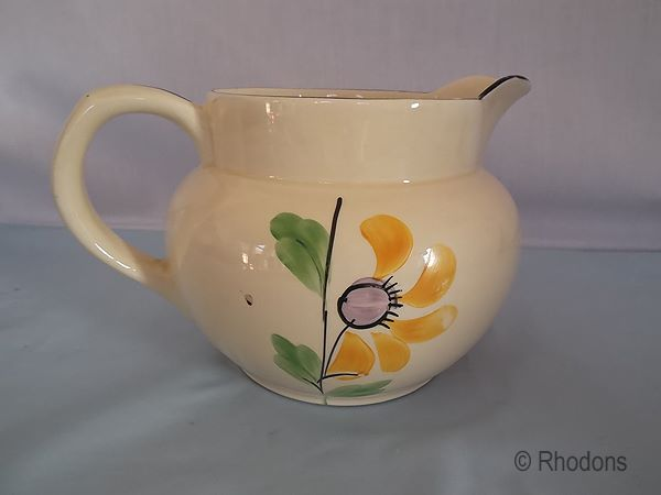 Art Deco Handpainted Jug By Arthur Wood, Circa 1920s