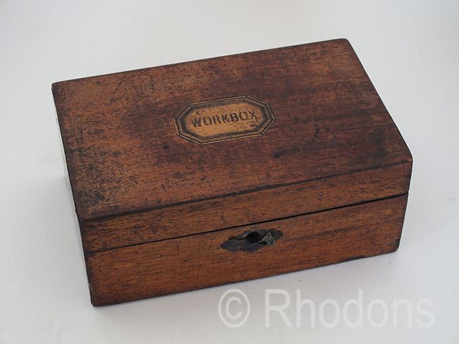 Antique Sewing Workbox, 19th Century