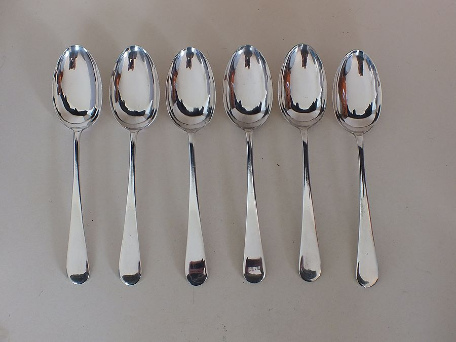 Vintage EPNS Table Spoons, Old English Pattern, Set of 6x