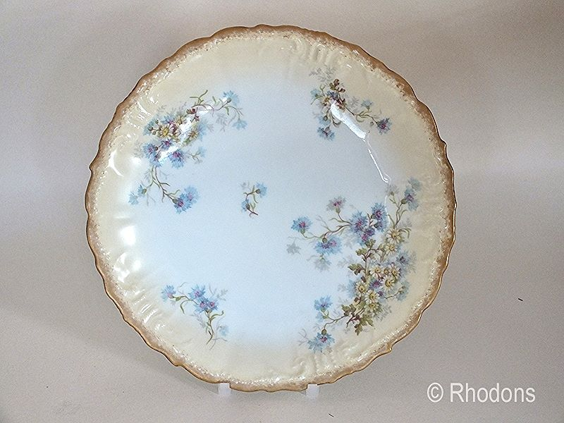 Antique Limoges Plate Blush Cornflower Design  (Ref:002)