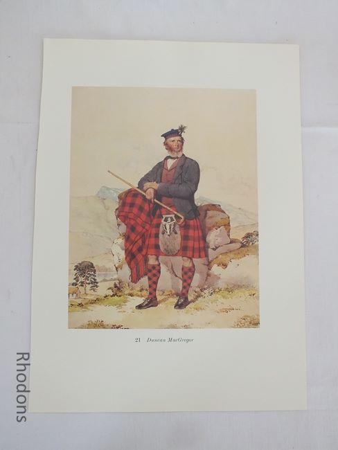 Duncan MacGregor, Scottish Clansman Print By Kenneth Macleay RSA, Circa 1890s