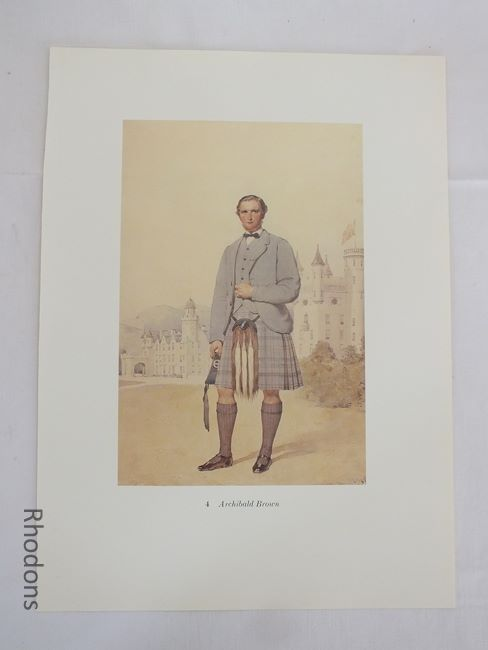Archibald Brown, 19th Century Scottish Clansman Print By Kenneth Macleay RSA. Circa 1890s