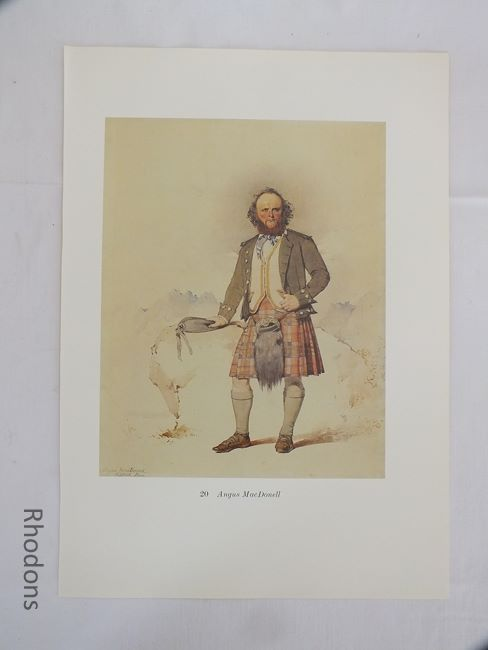 Angus MacDonell, 19th Century Scottish Clansman Print By Kenneth Macleay RSA, Circa 1890s