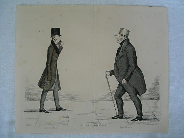 Modern Athenians, Prominent Edinburgh Gentlemen Print. Lord Jeffrey and Lord Murray