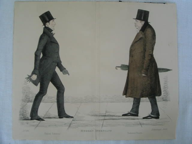 Modern Athenians, Prominent Edinburgh Gentlemen Print. James Simson and Professor Munro.