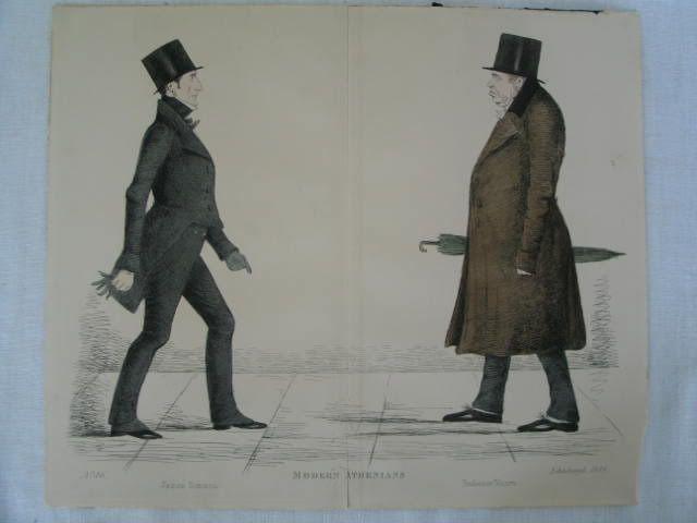 Modern Athenians, Prominent Edinburgh Gentlemen Print. James Simson and Professor Munro.