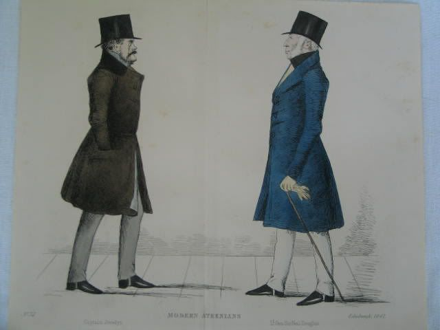 Modern Athenians, Prominent Edinburgh Gentlemen, 1847 Print. Sheet No 37 -