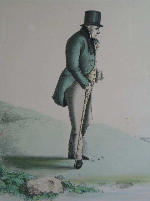 The Author of Waverley, Sir Walter Scott. 1831 Colour Tinted Ackermann Print