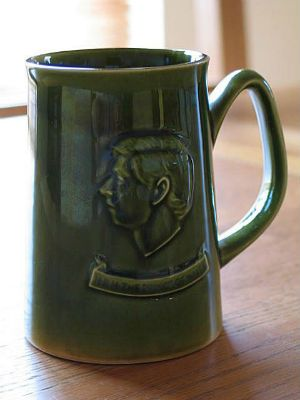 Charles, Prince Of Wales 1969 Investiture Commemorative Tankard By Holkam Pottery, England