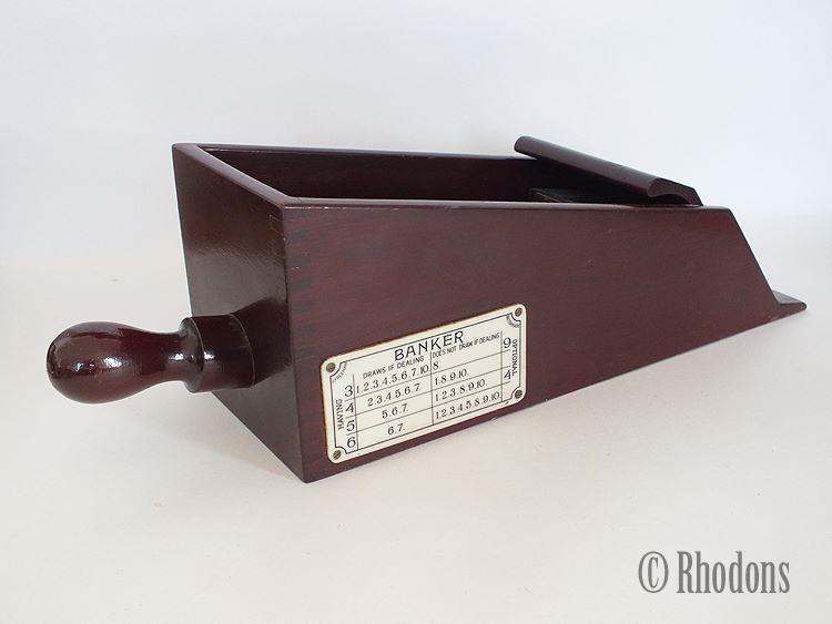 Wooden Casino Banker Card Dealing Shoe, Banquier Box