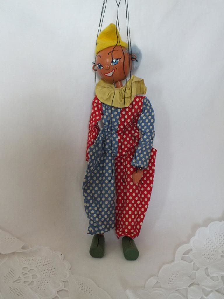 Pelham Puppet Clown With Original Box, Circa 1950s
