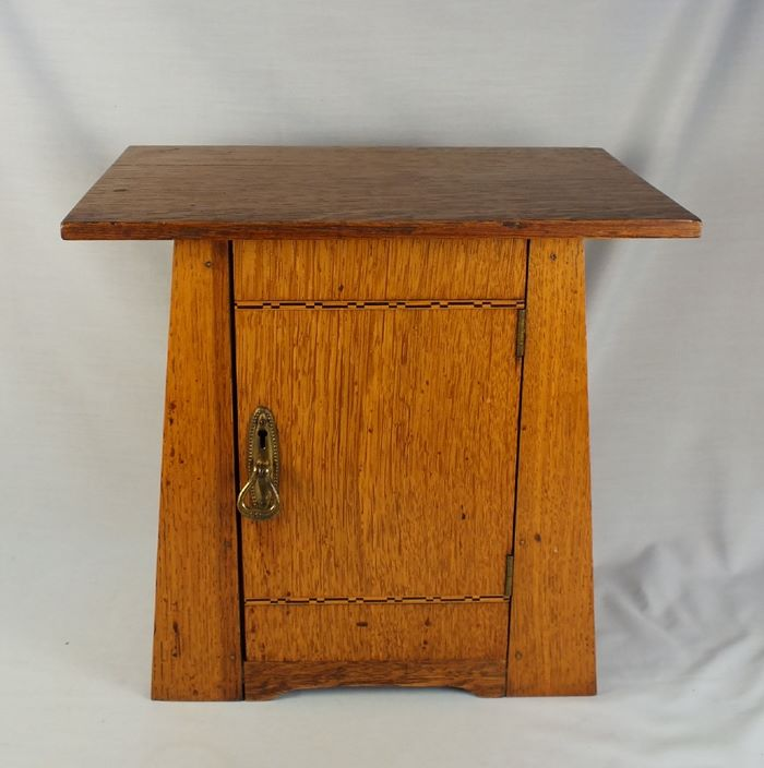 Oak Arts and Crafts Smokers Cabinet, Pipe Cabinet