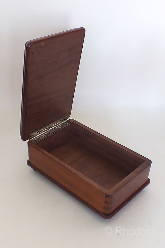 Unusual Rectangular Wooden Box, Circa 1930s