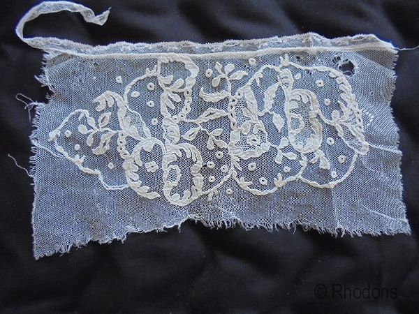 Honiton Lace Modesty Panel, Handmade, 19th Century
